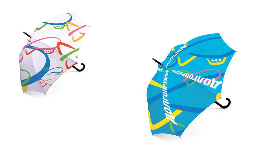 Зонты с фирменным паттерном